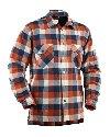 Overhemd Flanel, Gevoerd Navy/Orange