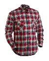 Flanell shirt  Rood/Marineblauw