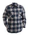 Flanell shirt  Marineblauw/Bordeaux