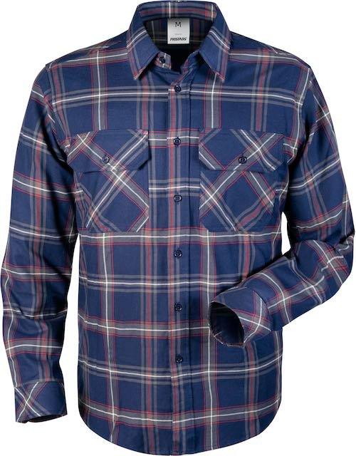 Fristads Flanellen overhemd 7421 MSF_Marineblauw