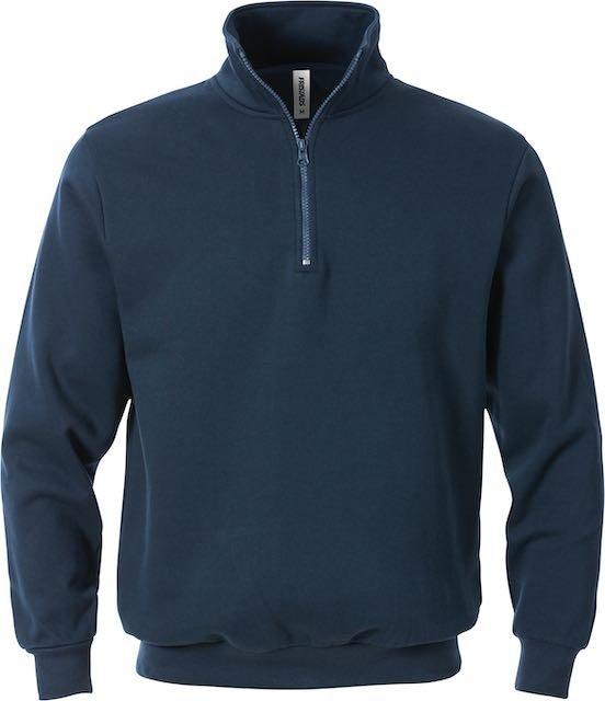 Fristads Acode sweatshirt met korte ritssluiting 1737 SWB_Donker marineblauw