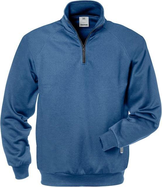 Fristads Sweater met korte rits 7048 SHV_Blauw