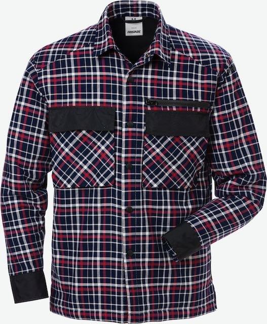 Fristads Gewatteerd overhemd 7095 SCP_Marineblauw/Rood