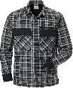Fristads Gewatteerd overhemd 7095 SCP_Zwart/grijs