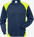Fristads T-shirt met lange mouwen 7071 THV_Marineblauw/hi-vis geel