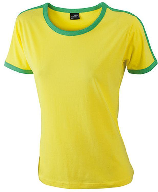 T-Shirt Ladies` Flag-T Geel/Kikkergroen