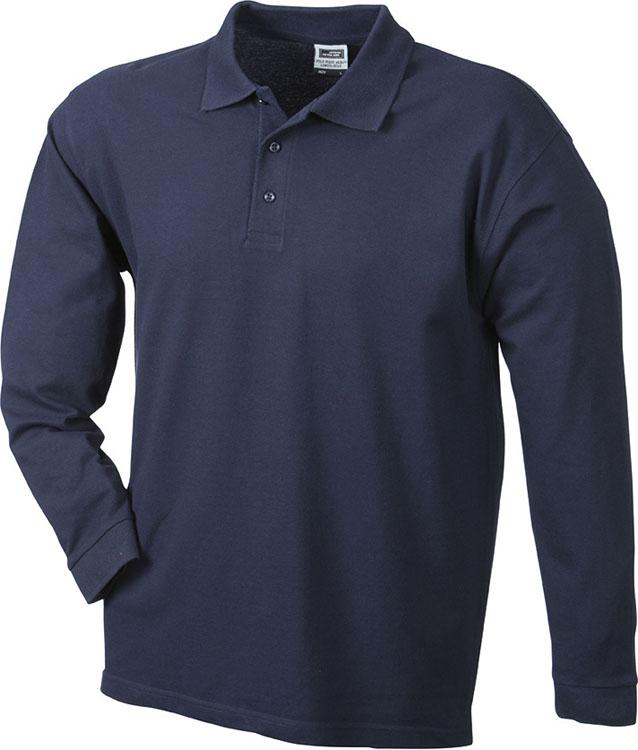 Polo Polo Piqué Heavy Long-Sleeved Navy