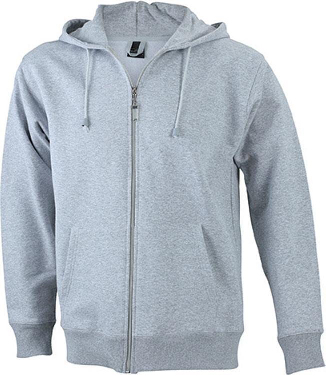 Sweats Mens Hooded Jacket Heather-Grijs
