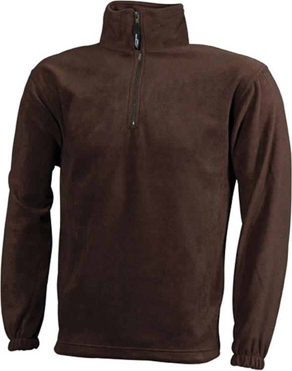 Fleecejacken Half-Zip Fleece Bruin