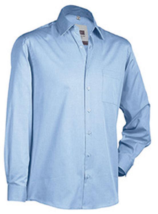 Hemden/Blusen Business Shirt Long Hemelsblauw