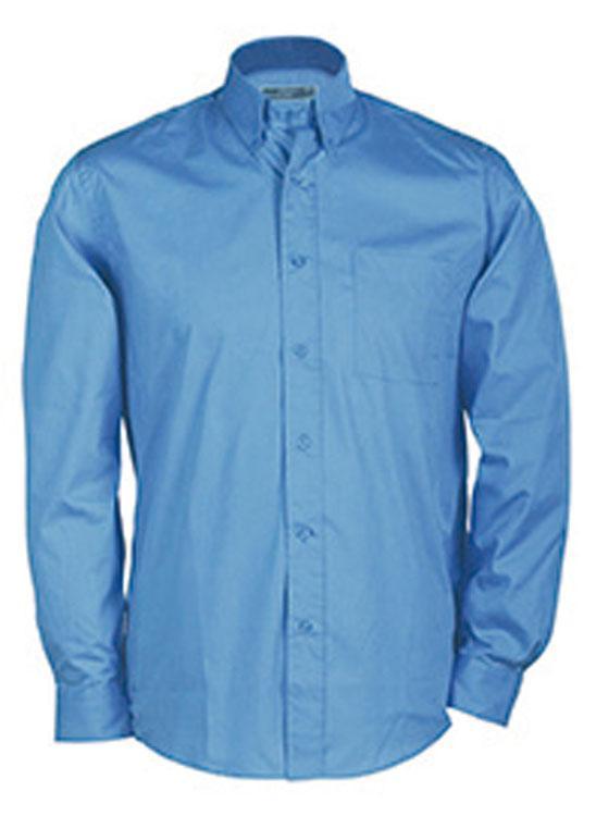 Hemden/Blusen Buttondown Shirt Long Blauw