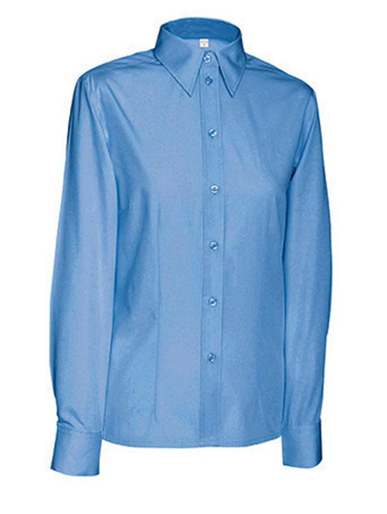 Hemden/Blusen Ladies Blouse Long Blauw
