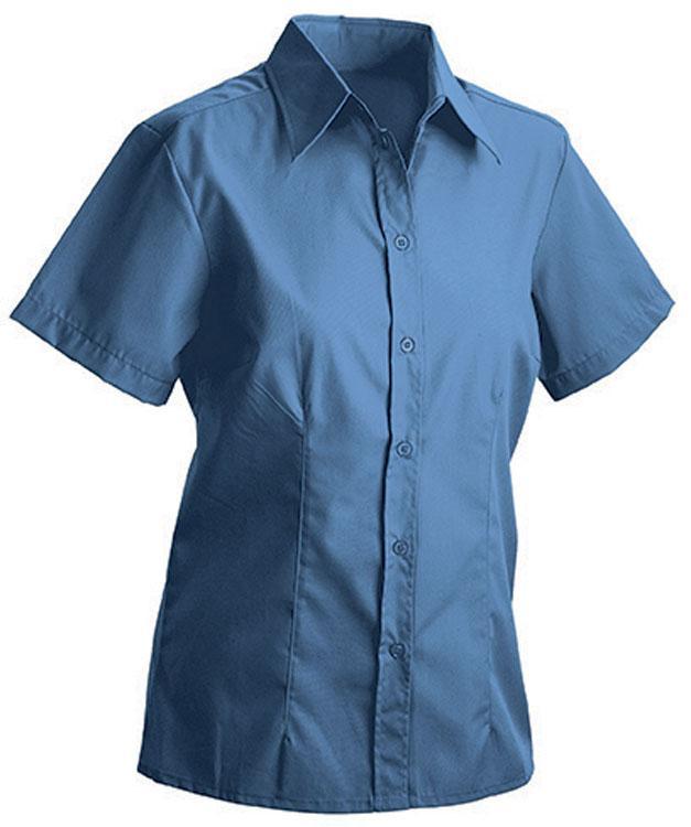 Hemden/Blusen Ladies Blouse Short Blauw