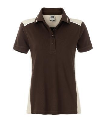 Ladies Workwear Polo Bruin/Steen