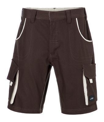 Workwear Bermudas Bruin/Steen