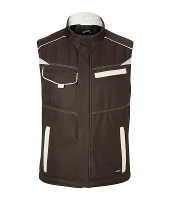 Workwear Softshell Padded Vest Bruin/Steen